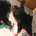 狩人 - 本物の熊の皮です!