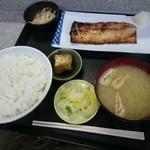 ミズタニ - さわらの味噌漬け焼き定食(730円)2016年1月