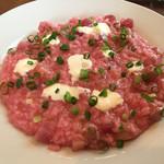 TRATTORIA NONNO - Cランチ/最上伝承野菜かぶと金山豚の自家製サルチッチャのリゾット