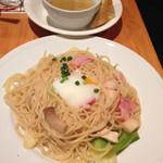 イタリアン食堂酒場 大手町厨房 - 野人風パスタのランチセット@972円