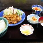 かわむら - もち豚生姜焼き定食