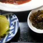 食堂 伊賀 - 漬物二種 2016.1