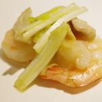 喜臨軒 - 海老とミル貝の炒め物