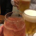 46947986 - 生ビールとロゼスプリッツアで乾杯!