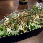花いちぜん - じゃこと島豆腐のサラダ 2015.12