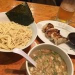 おはな - つけ麺+餃子+生ビール