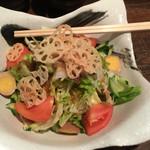 とりのとりこ - とりこ特製サラダ(¥720)