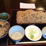 麻布さ和長 - せいろ蕎麦大盛りと日替わりご飯セット 1000円