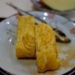 茶房本社 - 朝定食 茶粥(500円)・玉子焼きと目刺し