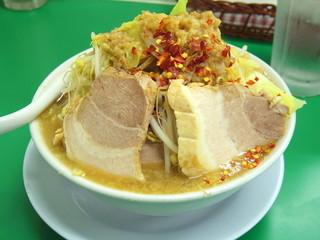 今を粋ろ 米子店 - 2016年1月 豚4枚入り、ニンニク無し、野菜まし、アブラまし、カラメまし、唐辛子(900円)