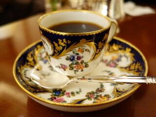 ロイヤルクリスタルカフェ - 2016年1月 アンティークのカップで、美味しいコーヒー♪