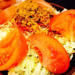 海鮮もんじゃ けい - トマトもんじゃ+ひき肉+チーズ