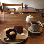 しまうまカフェ - デザート。こんな感じでいただきました