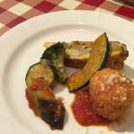 イル タータ - 野菜と卵とコロッケと