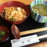 手打うどん一心 - H28年1月30日ミニ親子丼定食(ミニかけうどん)