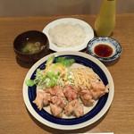 キッチン丸山 - キッチン丸山(大分県大分市顕徳町)とり天セット680円
