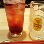 月島 鶴ちゃん - 「赤玉パンチ」飲んでみた。