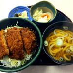 一福 - ソースかつ丼 (小さなうどんorそば付き)