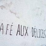 オーデリス - 壁に書かれた店名