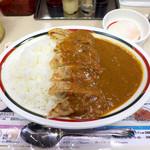 46973431 - 特みよしの盛カレー(¥597)。餃子6個・温玉が乗るカレーライス!