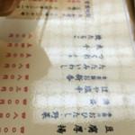江戸一 - 品書き