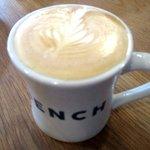 ベンチ コーヒー - カフェラテ!(2016,01/24)