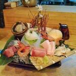 酒菜 ちゃぶ有 - 刺身の盛り合わせ。2400円