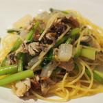 バルハチゴー - ブリと大根のスパゲティー