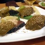 魚と酒 ことぶきや - 寒ブリの岩塩焼き ~ 旬の野菜ソース