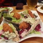 魚と酒 ことぶきや - 牡蠣フライ 和風タルタルソース