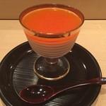 すし 晴海 - ブラマンジェ+京都産江戸柿のソース