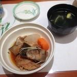 江戸銀寿司割烹 - 多分 カレイのあら炊き&お吸い物o(^▽^)o
