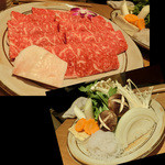和牛 まつした 上通り店 - <2016年1月>すき焼のお肉とお野菜