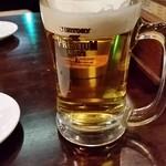 塩ホルモン三島  - 塩ホルモン三島 鴻巣店 乾杯ビール