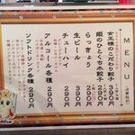 餃子の名前考え中 - メニュー