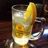 居酒屋 おおつ - ドリンク写真:レモン付きハイボール