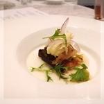 Restaurant  LA FUENTE - さわらのポワレ✨カブのプレ✨ブロッコリーソースとアホ(ニンニク)とバカラオ