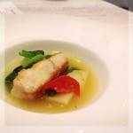 Restaurant  LA FUENTE - 北海道産タラのミネストローネ✨お酒のアテにいい味、シラフな私達にとっては少々しょっぱい(◞ꈍ∇ꈍ)◞