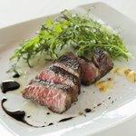 リストランテ・スコーラ - 料理写真:淡路牛ロース肉のビステッカ