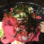 岡本庵 - ローストビーフ丼
