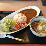 さぬき・むさし野うどん水織 - 「トマトカレーとミニうどんセット」780円