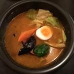 kanakoのスープカレー屋さん - 厚切りベーコンスープ、辛さの入口辛さ40番です。