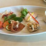 イタリア料理 リストランテ フィッシュボーン - アミューズ5種盛り