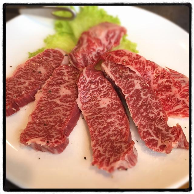 みつまた - 特上ハラミ。1,980円にしては量が少なく、少し高いかなと。和牛のハラミだから味は間違いないです。