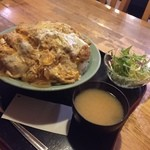 吉兆 - 激盛りチキンカツ丼