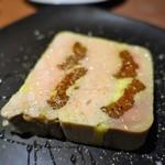 中目黒 Bistro Bolero - 鴨のフォアグラと市田柿のテリーヌ 柿の蜂蜜と共に