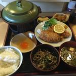 瀬お - 料理写真:A定食  すきやき  アジフライ  小そば