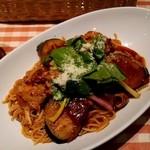 スパゲッティ食堂DONA 京王クラウン街聖蹟桜ヶ丘店 - 茄子のトマトソーススパゲッティ