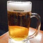 川崎こてがえし - 生ビール(プレミアムモルツ)