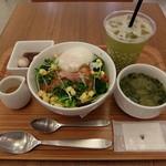 ナナズグリーンティー - タコライスセットと水だし緑茶